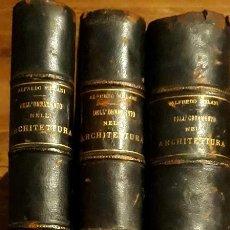 Libros antiguos: DEGLI ORNAMENTO NELL'ARCHITETTURA C 1920 ALFREDO MELANI 4 TOMOS 3VS VALLARDI. HISTORIA ARQUITECTURA. Lote 210573395