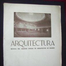 Libros antiguos: ARQUITECTURA. REVISTA DEL COLEGIO OFICIAL DE ARQUITECTOS DE MADRID. NÚM. 7. SEPT 1935. CINE CARRETAS. Lote 210665104