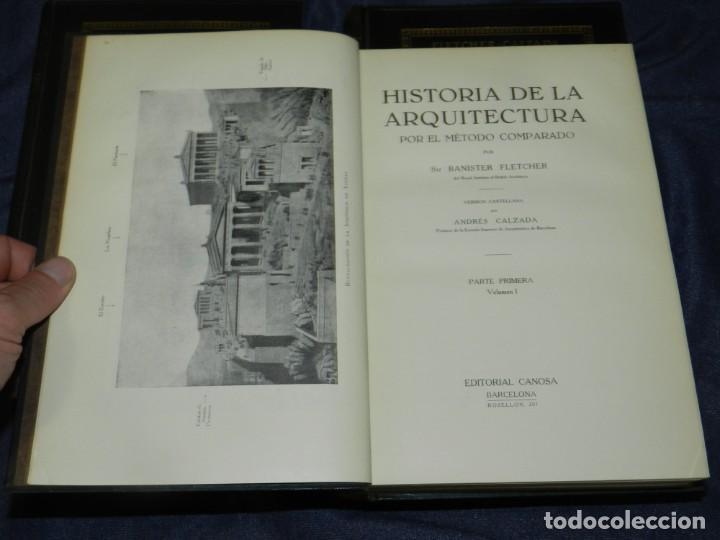 Libros antiguos: (MF) FLETCHER - CALZADA - HISTORIA DE LA ARQUITECTURA POR UN METODO COMPRADO, 3 VOLS, 1928 - Foto 2 - 210830774