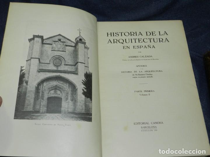 Libros antiguos: (MF) FLETCHER - CALZADA - HISTORIA DE LA ARQUITECTURA POR UN METODO COMPRADO, 3 VOLS, 1928 - Foto 6 - 210830774