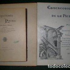 Libros antiguos: ROVIRA Y RABASSA, ANTONIO: ESTEREOTOMIA DE LA PIEDRA. 2 VOLS. TEXTO + 2 VOLS. LÁMINAS. 1897-99. Lote 53188111