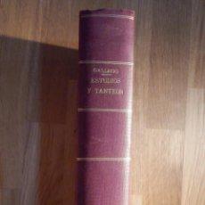 Libros antiguos: ESTUDIOS Y TANTEOS - PROYECTOS EDIFICIOS. PARTICULARES, PUBLICOS - TOMO IV - EDUARDO GALLEGO RAMOS. Lote 210968387