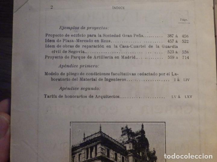 Libros antiguos: Estudios y Tanteos - Proyectos EDIFICIOS. PARTICULARES, PUBLICOS - Tomo IV - Eduardo Gallego Ramos - Foto 9 - 210968387
