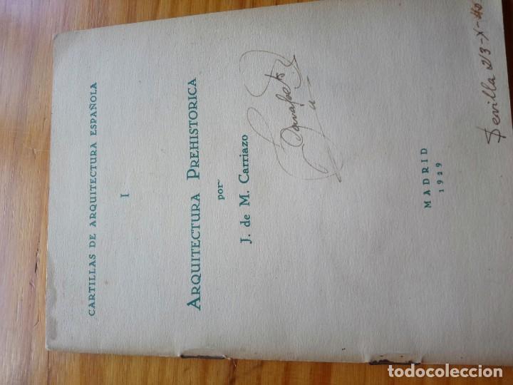 ARQUITECTURA PREHISTÓRICA CARTILLAS DE ARQUITECTURA ESPAÑOLA MEGALITICO DOLMEN 1929 (Libros Antiguos, Raros y Curiosos - Bellas artes, ocio y coleccion - Arquitectura)