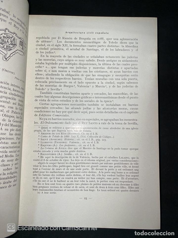 Libros antiguos: ARQUITECTURA CIVIL ESPAÑOLA.DE LOS SIGLOS I AL XVIII.TOMO II.VICENTE LAMPEREZ. MADRID, 1922. CALLEJA - Foto 5 - 212764208