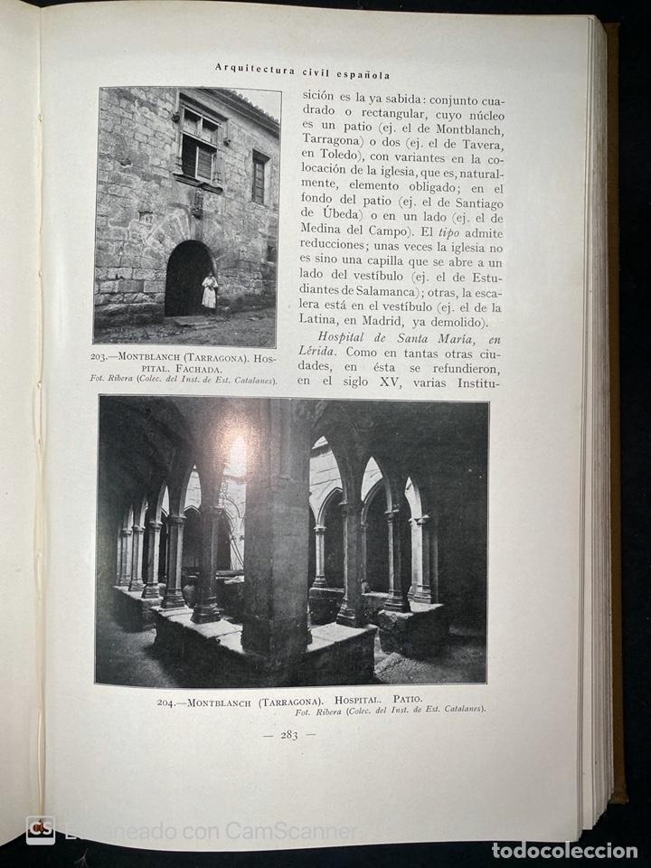 Libros antiguos: ARQUITECTURA CIVIL ESPAÑOLA.DE LOS SIGLOS I AL XVIII.TOMO II.VICENTE LAMPEREZ. MADRID, 1922. CALLEJA - Foto 7 - 212764208