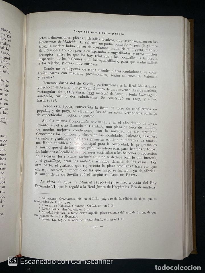 Libros antiguos: ARQUITECTURA CIVIL ESPAÑOLA.DE LOS SIGLOS I AL XVIII.TOMO II.VICENTE LAMPEREZ. MADRID, 1922. CALLEJA - Foto 8 - 212764208