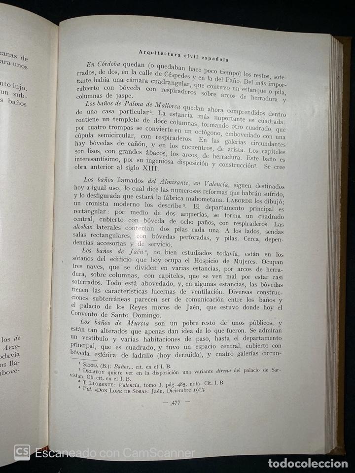 Libros antiguos: ARQUITECTURA CIVIL ESPAÑOLA.DE LOS SIGLOS I AL XVIII.TOMO II.VICENTE LAMPEREZ. MADRID, 1922. CALLEJA - Foto 9 - 212764208