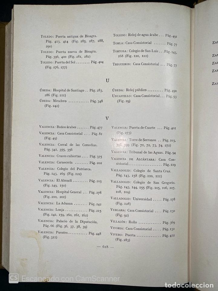 Libros antiguos: ARQUITECTURA CIVIL ESPAÑOLA.DE LOS SIGLOS I AL XVIII.TOMO II.VICENTE LAMPEREZ. MADRID, 1922. CALLEJA - Foto 11 - 212764208