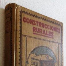 Libros antiguos: CONSTRUCCIONES RURALES - V. NICCOLI, ED. GUSTAVO GILI, 1920. Lote 212795192