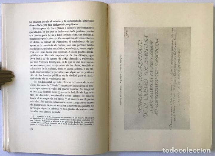 Libros antiguos: VENTURA RODRÍGUEZ Y SU OBRA EN NAVARRA. Discurso leído por... y contestación de Modesto López Otero. - Foto 4 - 123261602