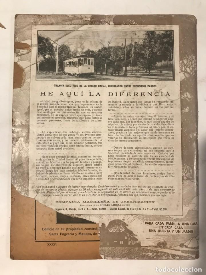 Libros antiguos: LA CIUDAD LINEAL 10 DE ENERO 1930 . NUM 820 REVISTA DE URBANIZACION RAFAEL MARQUINA,RIVAS MOREN0 - Foto 4 - 214190076