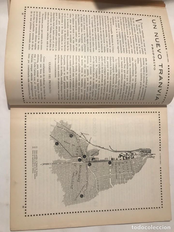Libros antiguos: LA CIUDAD LINEAL 10 DE MARZO 1930 . NUM 822 REVISTA DE URBANIZACION RAFAEL MARQUINA,RIVAS MOREN0 - Foto 3 - 214190371