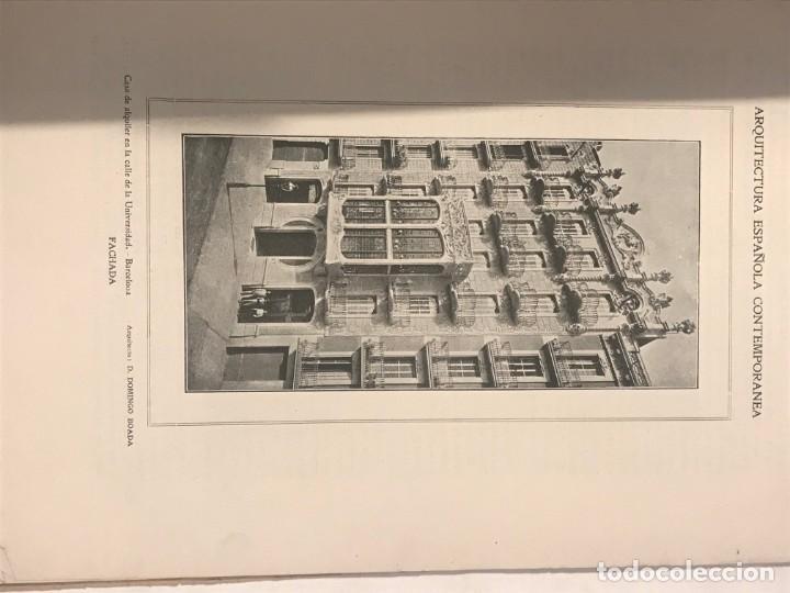 Libros antiguos: ARQUITECTURA Y CONSTRUCCION NUM 180 JULIO 1907 D. Manuel Vega y March. MODERNISMO - Foto 3 - 215733405