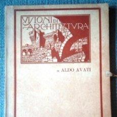 Libri antichi: VISIONI DI ARCHITETTURA DI ALDO AVATI. Lote 215744842