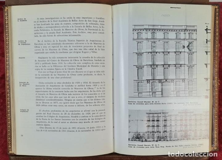 Libros antiguos: LOS MAESTROS DE OBRAS DE BARCELONA. JAN BASSEGODA. ACADEMIA DE SAN JORGE. 1972. - Foto 4 - 217307438
