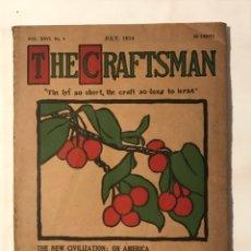 Libros antiguos: THE CRAFTSMAN VOL XXVI Nº 4 JULY 1914 . ARQUITECTURA Y DECORACION, EN INGLES. Lote 217461637