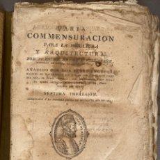 Libros antiguos: VARÍA COMMENSURACION PARA LA ESCULTURA Y ARQUITECTURA POR JUAN DE ARPHE Y VILLAFAÑE 7A IMPRESIÓN. Lote 218793783