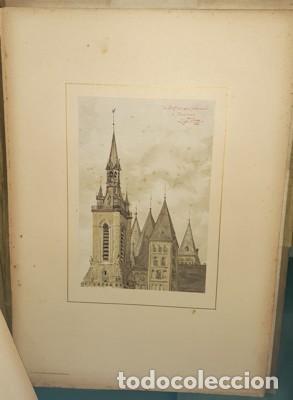 Libros antiguos: LIBRO-LÁMINAS ARQUITECTÓNICAS TOURS ET TOURELLES HISTORIQUES DE LA BELGIQUE, Mr JEAN BAES, 1880-1889 - Foto 3 - 220948371