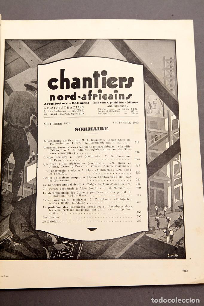 Libros antiguos: CHANTIERS Nord Africaines - 1932 - ARCHITECTURE, DECORATION, URBANISME, TRAVAUX PUBLICS - Foto 4 - 221436863