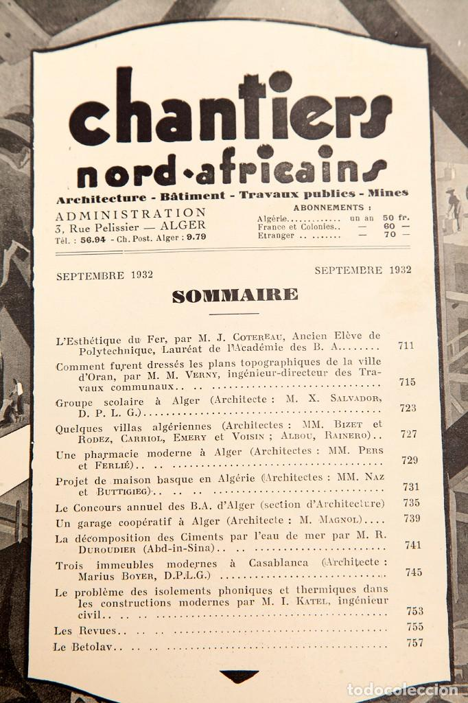 Libros antiguos: CHANTIERS Nord Africaines - 1932 - ARCHITECTURE, DECORATION, URBANISME, TRAVAUX PUBLICS - Foto 5 - 221436863