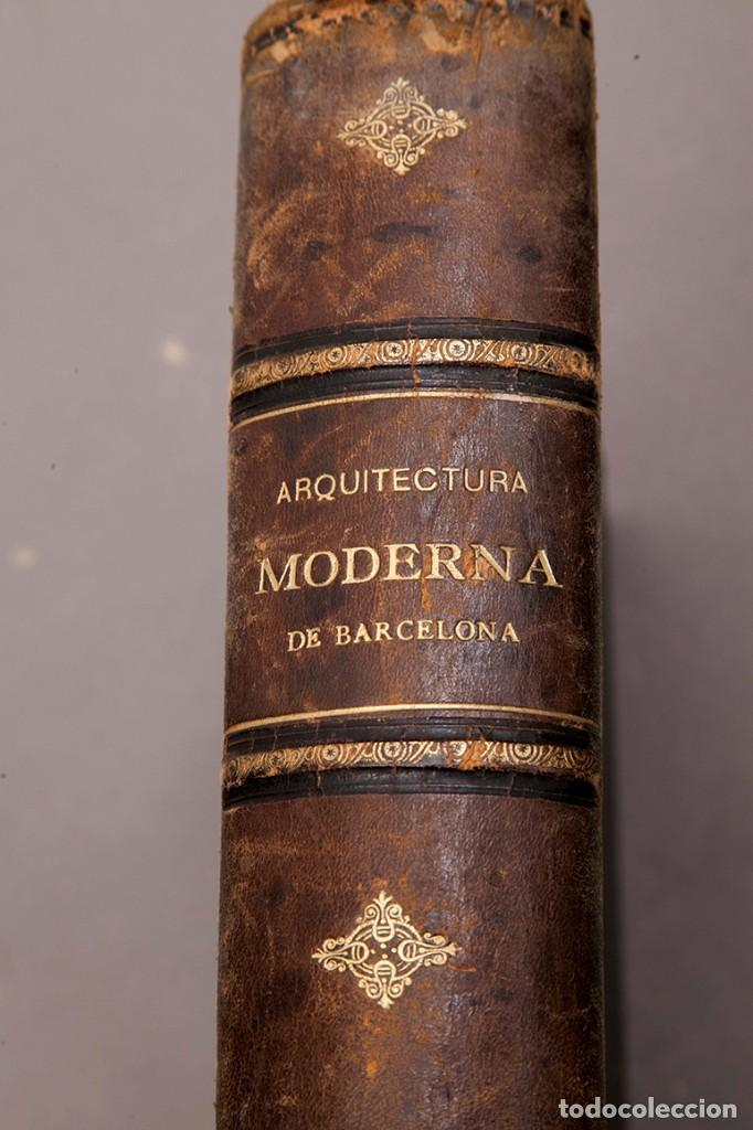 Libros antiguos: LUIS DOMENECH Y MONTANER : ARQUITECTURA MODERNA DE BARCELONA - 1900 - Foto 3 - 223491723
