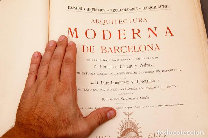 Libros antiguos: LUIS DOMENECH Y MONTANER : ARQUITECTURA MODERNA DE BARCELONA - 1900 - Foto 6 - 223491723