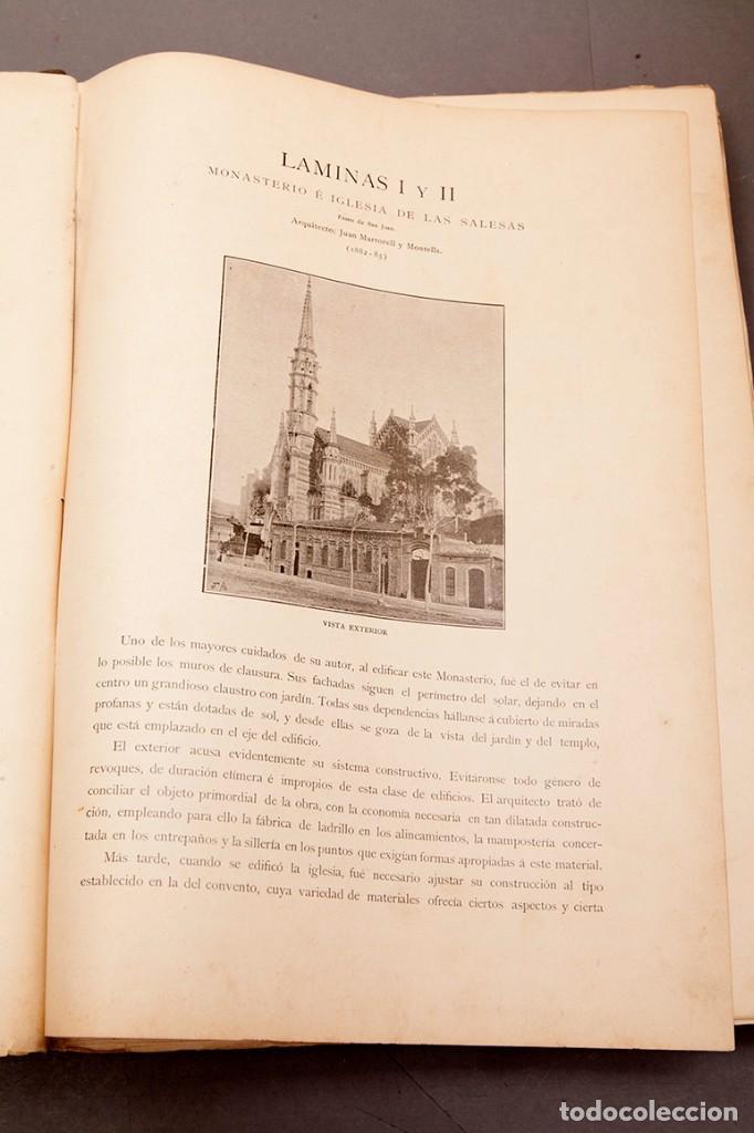 Libros antiguos: LUIS DOMENECH Y MONTANER : ARQUITECTURA MODERNA DE BARCELONA - 1900 - Foto 9 - 223491723