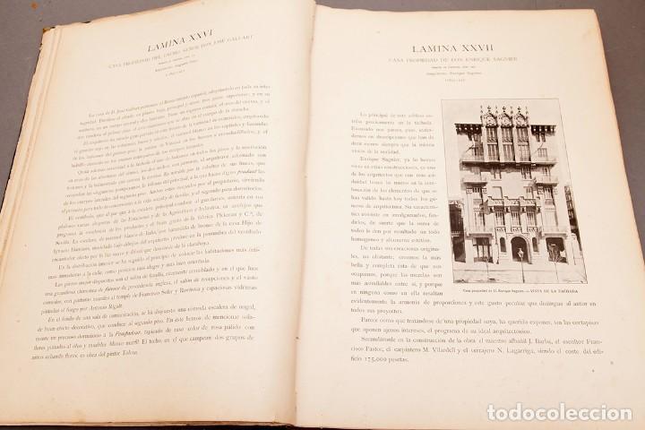 Libros antiguos: LUIS DOMENECH Y MONTANER : ARQUITECTURA MODERNA DE BARCELONA - 1900 - Foto 11 - 223491723