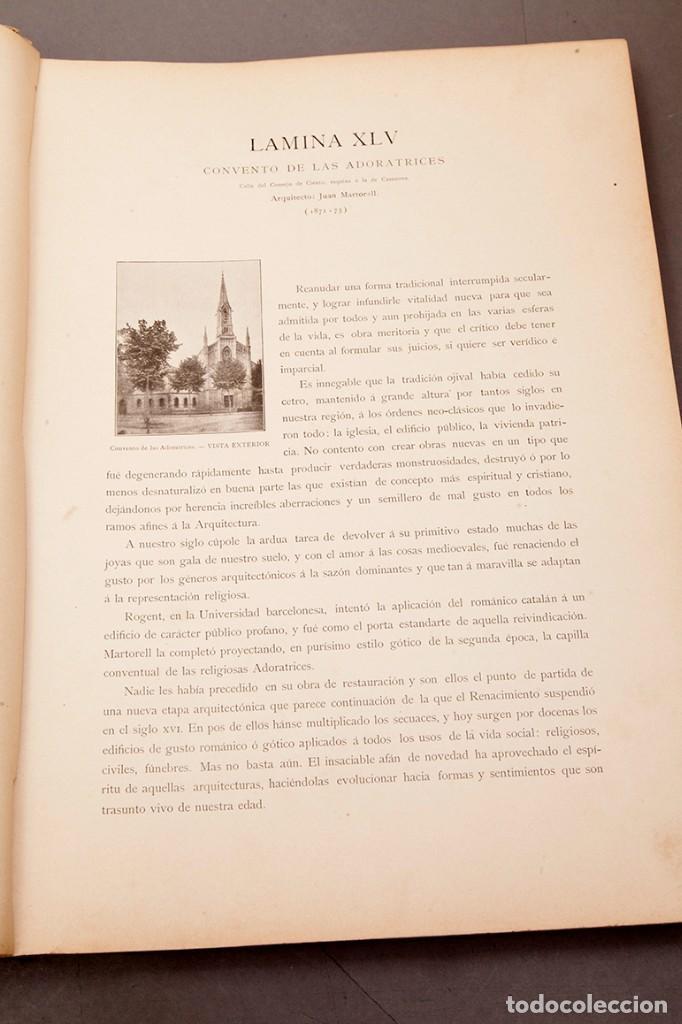 Libros antiguos: LUIS DOMENECH Y MONTANER : ARQUITECTURA MODERNA DE BARCELONA - 1900 - Foto 13 - 223491723