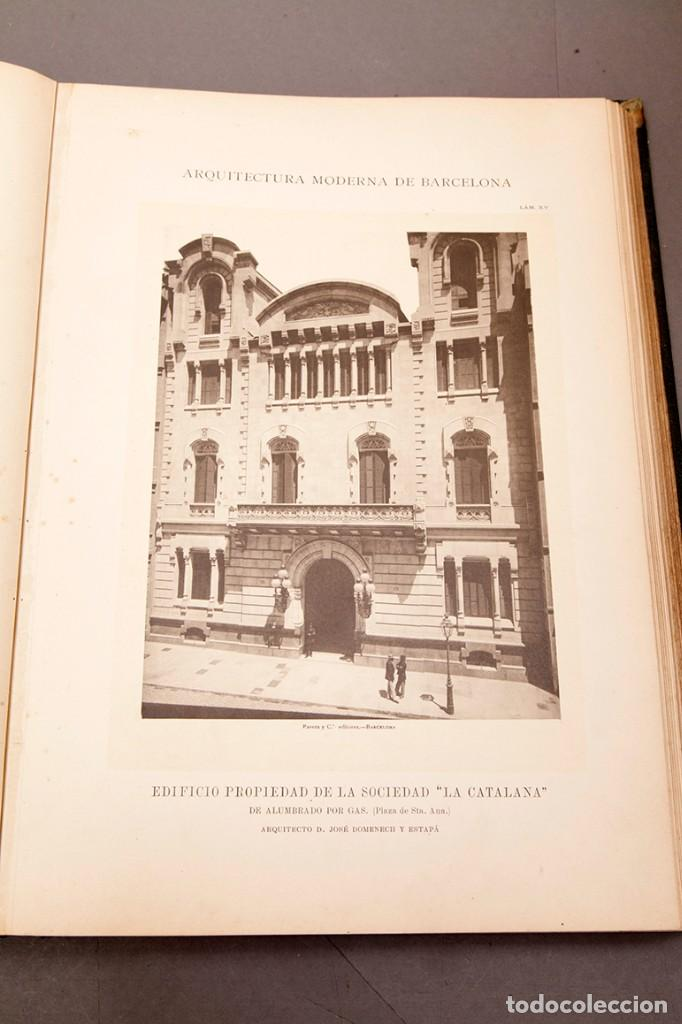 Libros antiguos: LUIS DOMENECH Y MONTANER : ARQUITECTURA MODERNA DE BARCELONA - 1900 - Foto 14 - 223491723