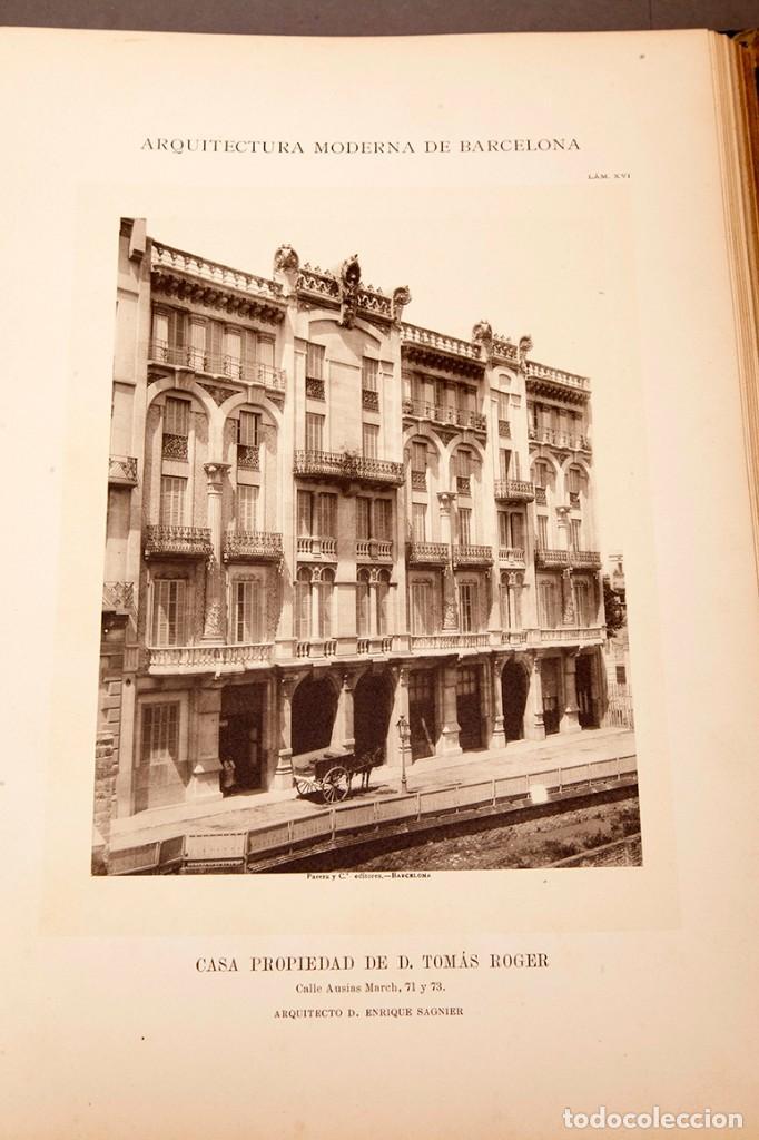 Libros antiguos: LUIS DOMENECH Y MONTANER : ARQUITECTURA MODERNA DE BARCELONA - 1900 - Foto 15 - 223491723