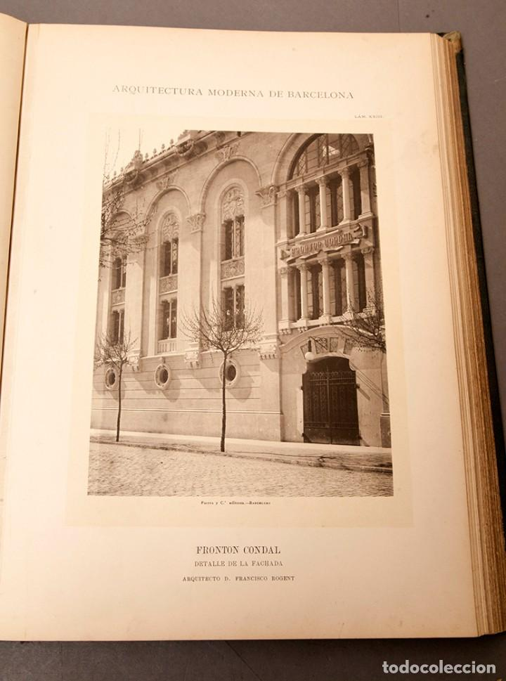 Libros antiguos: LUIS DOMENECH Y MONTANER : ARQUITECTURA MODERNA DE BARCELONA - 1900 - Foto 16 - 223491723