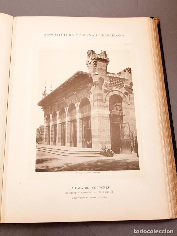Libros antiguos: LUIS DOMENECH Y MONTANER : ARQUITECTURA MODERNA DE BARCELONA - 1900 - Foto 17 - 223491723