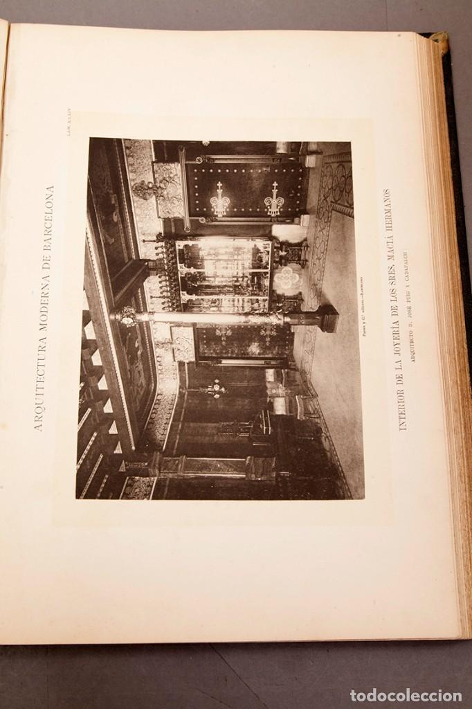 Libros antiguos: LUIS DOMENECH Y MONTANER : ARQUITECTURA MODERNA DE BARCELONA - 1900 - Foto 18 - 223491723