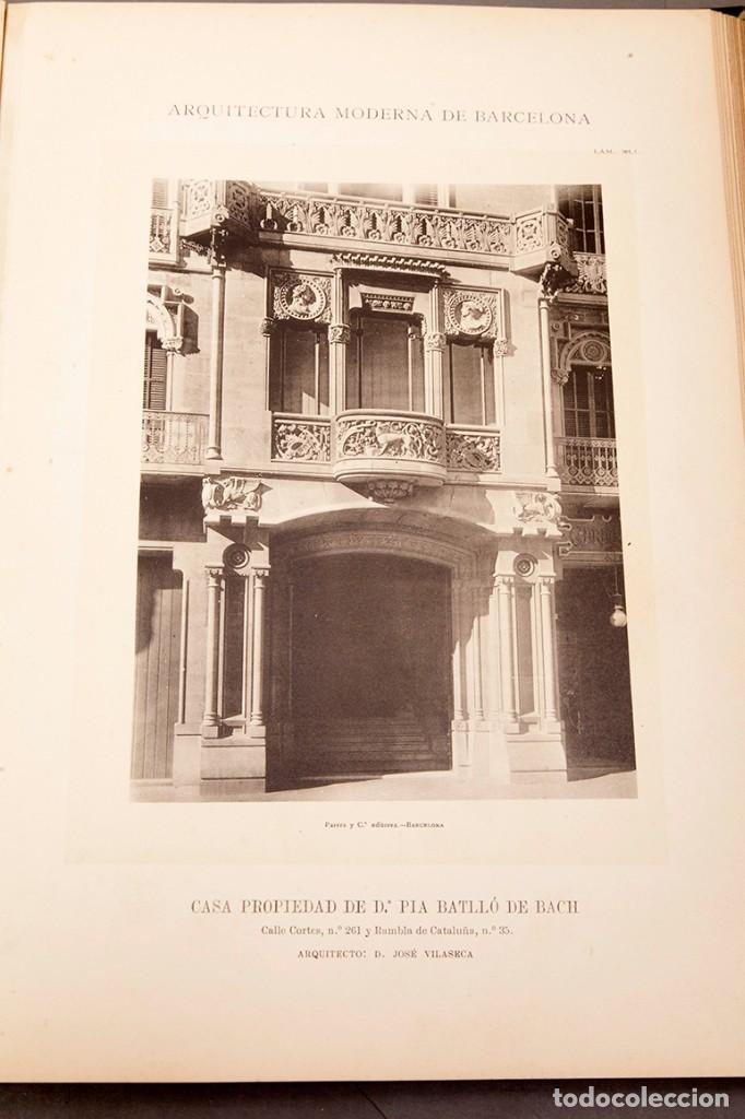 Libros antiguos: LUIS DOMENECH Y MONTANER : ARQUITECTURA MODERNA DE BARCELONA - 1900 - Foto 19 - 223491723