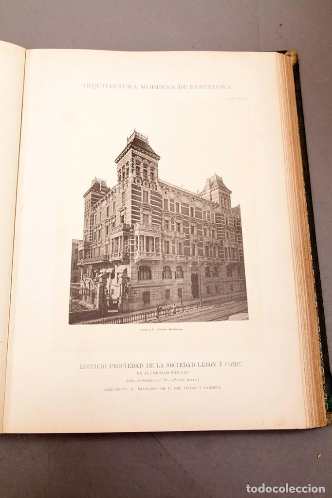 Libros antiguos: LUIS DOMENECH Y MONTANER : ARQUITECTURA MODERNA DE BARCELONA - 1900 - Foto 20 - 223491723