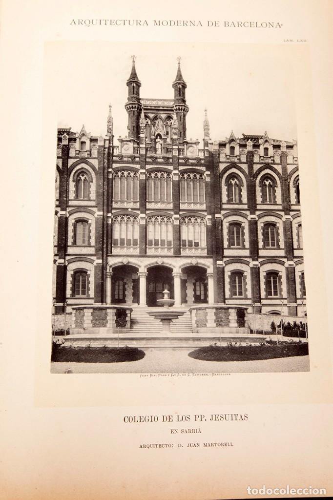 Libros antiguos: LUIS DOMENECH Y MONTANER : ARQUITECTURA MODERNA DE BARCELONA - 1900 - Foto 22 - 223491723