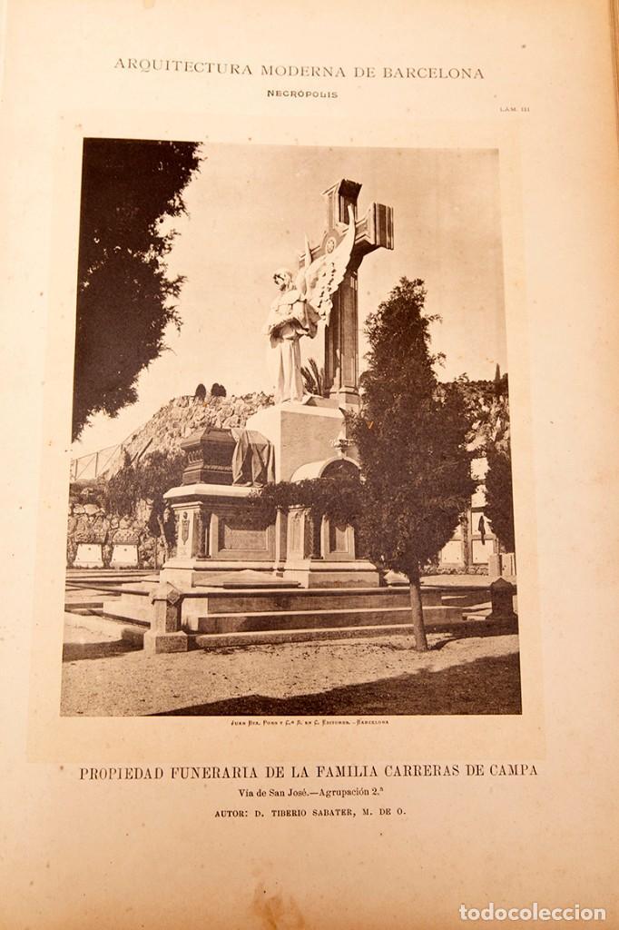 Libros antiguos: LUIS DOMENECH Y MONTANER : ARQUITECTURA MODERNA DE BARCELONA - 1900 - Foto 24 - 223491723