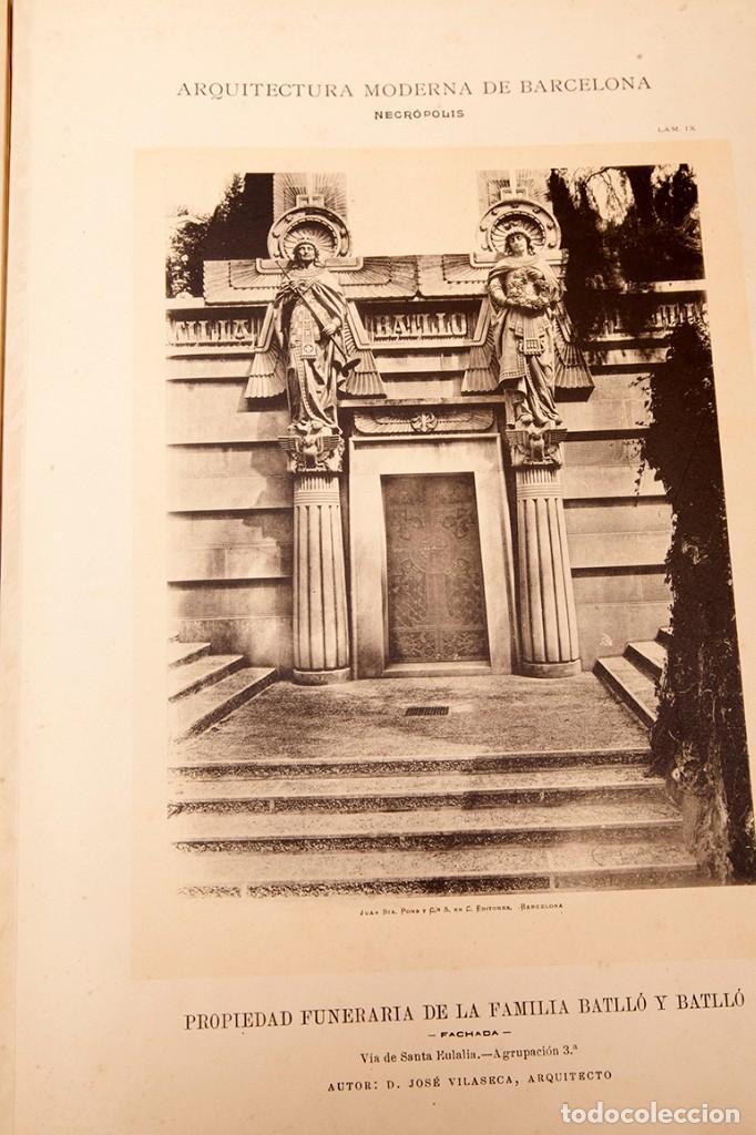Libros antiguos: LUIS DOMENECH Y MONTANER : ARQUITECTURA MODERNA DE BARCELONA - 1900 - Foto 25 - 223491723