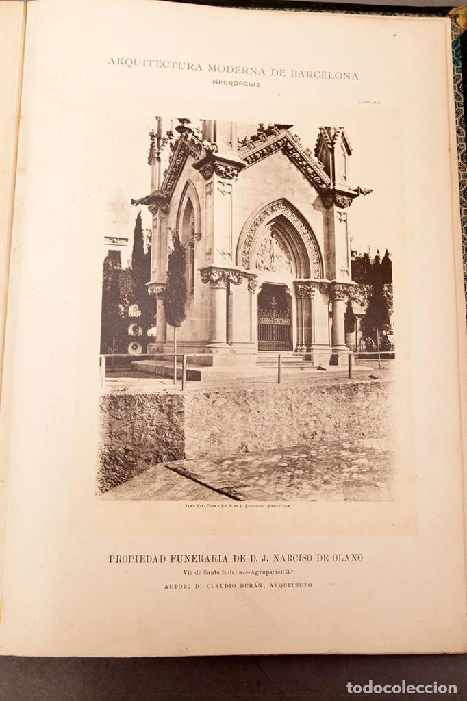 Libros antiguos: LUIS DOMENECH Y MONTANER : ARQUITECTURA MODERNA DE BARCELONA - 1900 - Foto 26 - 223491723