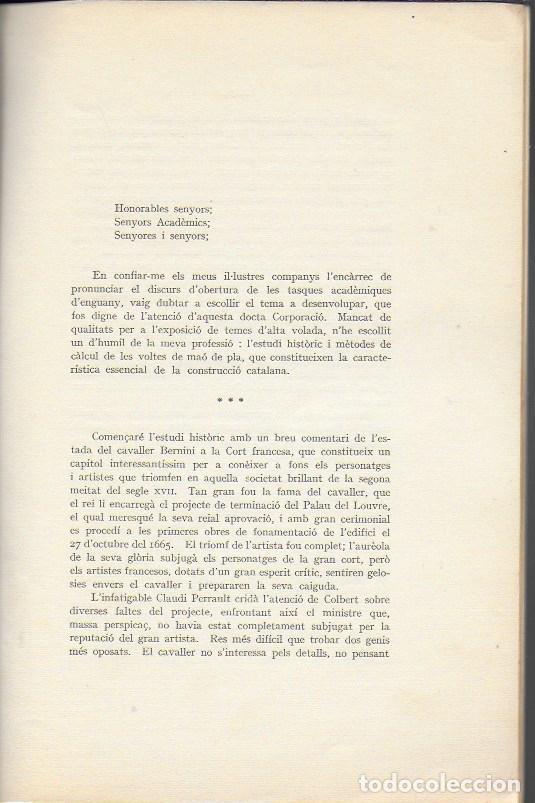 Libros antiguos: Estudi historic i metodes de càlcul de les voltes de maó de Pla / Josep Goday. BCN, 1934. 27x18cm. - Foto 3 - 142065794