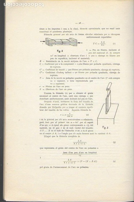 Libros antiguos: Estudi historic i metodes de càlcul de les voltes de maó de Pla / Josep Goday. BCN, 1934. 27x18cm. - Foto 5 - 142065794