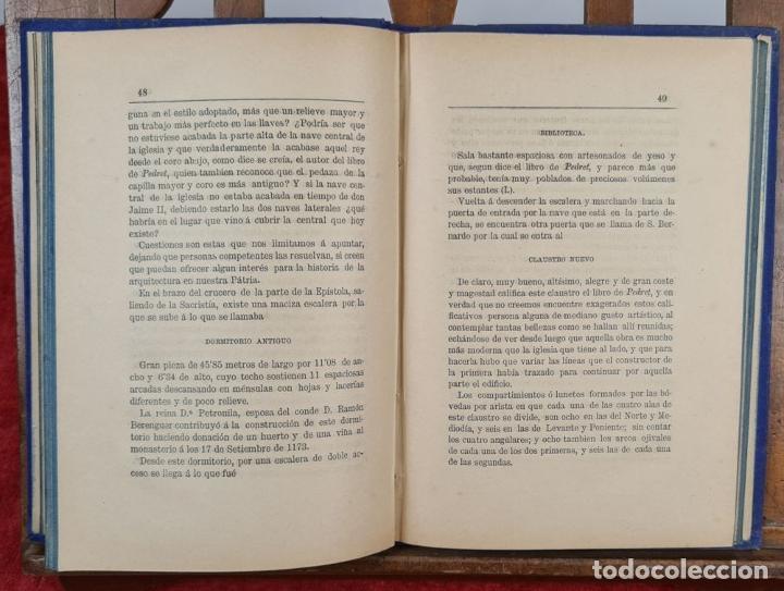 Libros antiguos: SANTAS CREUS. DESCRIPCION ARTISTICA DEL MONASTERIO. TEODORO CREUS. 1884 - Foto 3 - 224421698