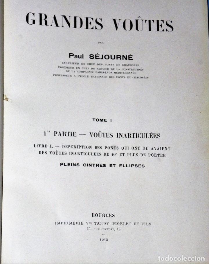 Libros antiguos: GRANDES VOÛTES. (5 TOMOS en 4 volúmenes) - Foto 2 - 225691167