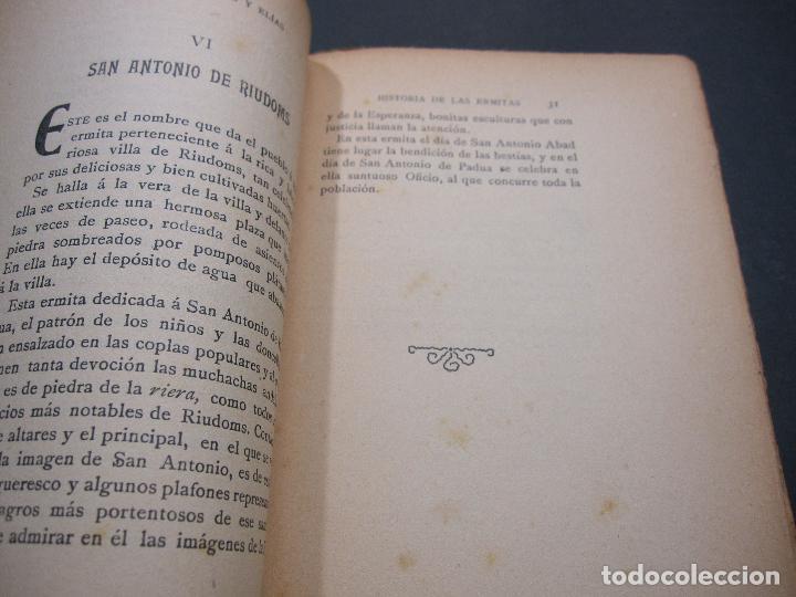 Libros antiguos: FRANCISCO GRAS Y ELIAS. HISTORIA DE LAS ERMITAS DEL ARZOBISPADO DE TARRAGONA. REUS 1909 - Foto 4 - 225770000