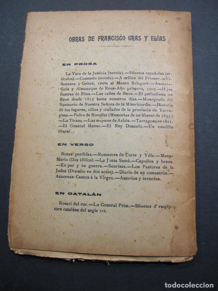 Libros antiguos: FRANCISCO GRAS Y ELIAS. HISTORIA DE LAS ERMITAS DEL ARZOBISPADO DE TARRAGONA. REUS 1909 - Foto 10 - 225770000