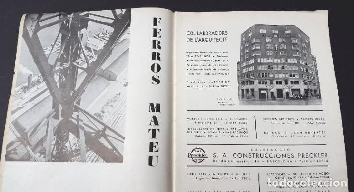 Libros antiguos: ARQUITECTURA I URBANISME - Nº 2 - CASETA GATCPAC - 1934 - Foto 3 - 226885170