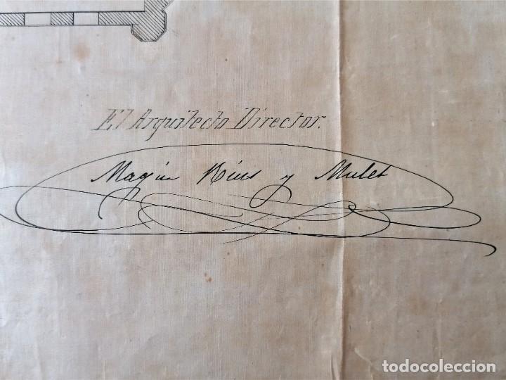 Libros antiguos: ARQUITECTURA,PLANOS,1882,POR JOAN MARTORELL MONTELLS,MAESTRO DE ANTONI GAUDI Y ANTONI ROVIRA TRIAS - Foto 24 - 226967722