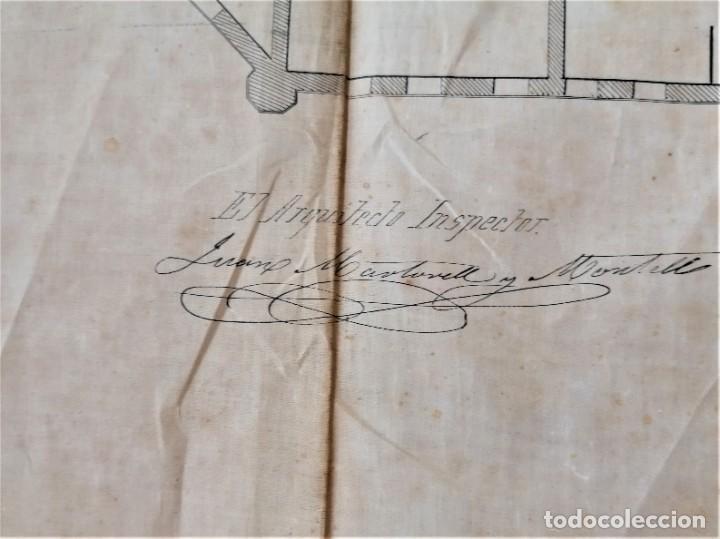Libros antiguos: ARQUITECTURA,PLANOS,1882,POR JOAN MARTORELL MONTELLS,MAESTRO DE ANTONI GAUDI Y ANTONI ROVIRA TRIAS - Foto 25 - 226967722